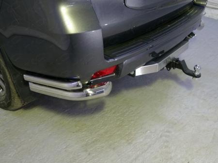 Toyota Land Cruiser 150 Prado 2017-Защита задняя (уголки двойные) 76,1/42,4 мм